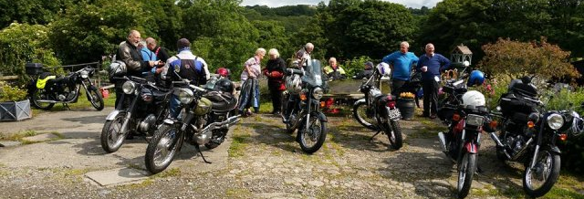 general picture of club members and bikes